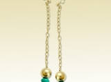 Easy breezy - dangle 14k gold filled chain earrings with turquoises and tiny balls.