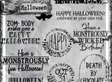 """Monstrously Fun Halloween"" Digi Image and Word Art Set"