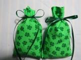 "St. Patrick's Day 4""X2"" Green Sachet-'Gold Rush' Men's Scent-326"