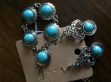 Turquoise earrings with matching bracelet