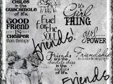"""Friends, Cheaper than Therapy"" Digi Image and Word Art Set"