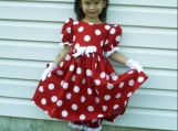 Handmade Disney Minnie Mouse Prestigious Complete 6 PC Dress Set