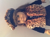 American Girl Doll Cheetah Print Vest and Baret