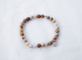 Flowerstone & Argentium Silver Bracelet