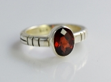 Handmade, Garnet Stone Pure Sterling Silver Ring(custom size, your size)