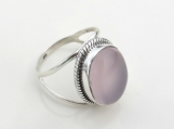 Rose Quartz ring,92.5% solid sterling silver ring,stone ring