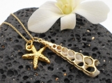 Shell and Starfish Gold Necklace