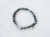 Silver Leaf Jasper & Argentium Silver Bracelet
