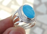 Turquoise ring, silver ring, 92.5% solid sterling silver ring