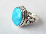 Turquoise ring, silver ring,92.5 solid sterling silver ring,Ring