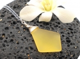 Yellow Beach Glass Necklace
