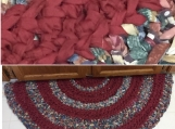 Crocheted Rag Rug - half circle #8