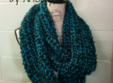 Infinity Scarf -  Knit Cowl Scarf - Knit Circle Scarf - Chunky Scarf - Loop Scarf - Mobius Scarf - Infinity Scarves Chunky Chainmail
