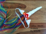 RAINBOW UNICORN Fantasy Headband w/ sheer ribbon train, pride, rave, festival, cosplay, anime, brony, bronies, dressup, child, adult