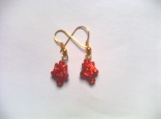 Children's Red Drop Earrings