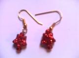 Children's Red Drop Earrings