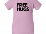 """""""Free Hugs"""" Pink Creeper Baby Onesie"""