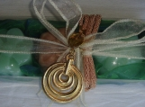 Green-Beige Elegant Gift Set for Women: Soaps Handmade Necklace