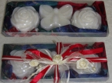 I Love You Mom: Red White Blue Luxury Soaps Mothers Day Gift Set