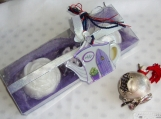 Tea Party Unique Gift Set for tea lover, Purple Tea Time Spa Set