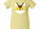 """Totoro Catbus Inspired"" Yellow Creeper Baby Onesie"