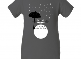 """Totoro Inspired"" Gray Creeper Baby Onesie"