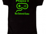 Video Game Controller Player 3 New Baby Black Onesie
