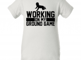 """Working on Ground Game"" Creeper Baby Onesie"