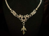 Chainmaille Designer Necklace Angel