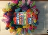 Dr. Suess Deco Mesh Door Wreath