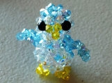 Penguin Charm Hanmade With Crystals