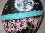Rock Hand Painted Moon & Chinese Blossom Tree