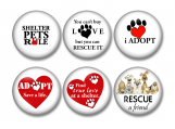 Animals, Rescue, Pets, Pin Back Button, Lock Back
