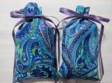 """Blue/Purple 4""""X2"""" Sachet-'Classic Lavender' Scent-Paisley-565"""