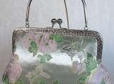 Butterfly Floral Silk Jacquard Clutch