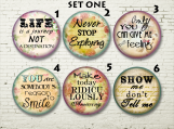 Encouragement Lock Back Pins, Buttons, Sayings, Encourage
