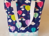 Insulated Lunch Bag, Hot air ballon Lunch Tote, Kids Lunch Box, Gift for Her, Insulated Lunch Box, Rainbow bag