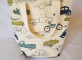Insulated lunch bag, waterproof lunch bag, kids lunch bag, adult lunch bag, cars