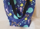 Insulated lunch bag, waterproof lunch bag, kids lunch bag, adult lunch bag, ocean, fish