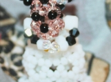 Minnie Mouse Bride Handmade Crystal Charm