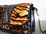 Animal Faux Fur Mix Purse