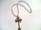 Aurora Borealis Beaded Cross Necklace