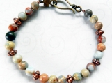 Beautiful Colored Jasper Stone Bracelet, Unisex, Gift for All