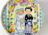 For the Wedding Couple, Wedding Day Gift, Paper Mache Gift Box