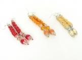 Handmade Long Beaded earrings  - Memet Collection
