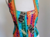 Islander Multi Color Print Corsetted Top - M