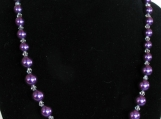 Purple Glass Bead Jewelry Set