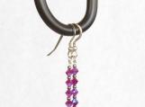 Raspberry Crystal Earrings