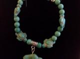 Buffalo fetish turquoise bracelet