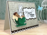 Coffee Lover Birthday Card African-American Fairy